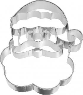 Ausstecher Weihnachtsmann-Gesicht