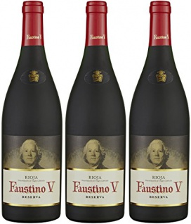 Faustino V Reserva D.O.C. Rotwein trocken kraftvoll harmonisch 2250ml, 3er Pack
