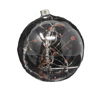 Glaskugel mit LED 15 cm - Vorschau