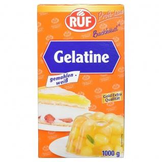 Ruf Gelatine weiß gemahlen Profi Line Großpackung Gold Qualität 1000g
