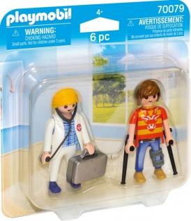 Playmobil Duo Pack Ärztin und Patient Spielfigurenset 70079