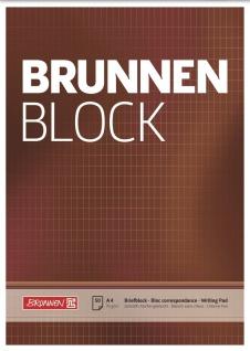 Briefblock DIN A4 braun rautiert