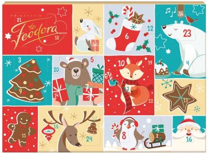 Feodora Adventskalender Weihnachtsabend 24 Schoko Pralinen 130g