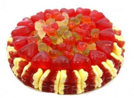 Rote Grütze Torte Süße Fruchtgummi Torte mit Rote Grütze Bären 600g