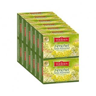 Teehaus Fenchel Anis Kümmel Teegetränk würziger Kräutertee 12er Pack