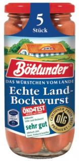 Böklunder Echte herzhafte Land Bockwurst in Eigenhaut 5 Stück 380g