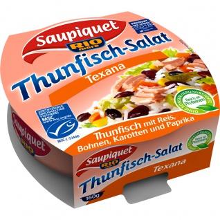 Saupiquet Thunfisch Salat Texana Reis Bohnen Karotten Paprika 160g