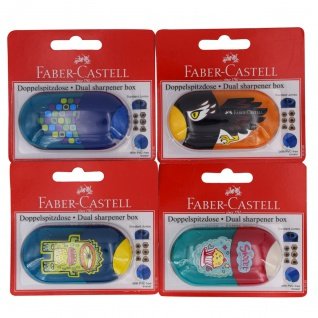Faber Castell Dual Sharpener Box Doppelspitzdose inkl. Radierer