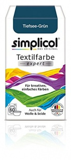 """Simplicol Textilfarbe expert -Für kreatives, einfaches Färben - 17012 """" Tiefsee-Grün"""" Neu!"""