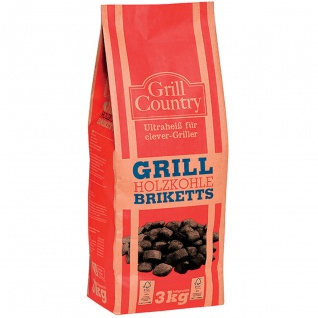 Grill Country Grill Holzkohle Briketts für clever Griller 3000g