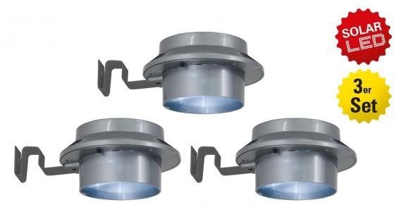 LED 3er-Set Leuchte mit Solar