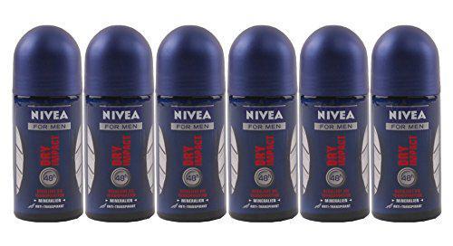 Nivea Deo Roll on Dry Impact for Men 50ml 6er Pack - Vorschau