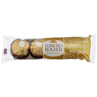 Ferrero Rocher feine Pralinen in edler Verpackung 4 Stück 50g