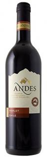 Andes Merlot Qualitätswein trockener Rotwein aus Chile 750ml