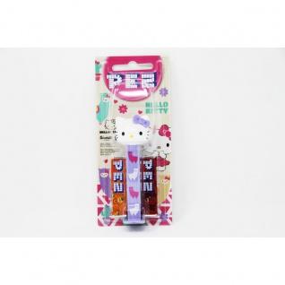 PEZ Hello Kitty Spender Flieder mit 2 Päckchen süßen Bonbons 17g