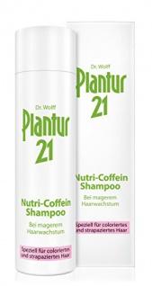 Plantur 21 Nutri-Coffein-Shampoo, 250 ml, Schutz vor vorzeitigem Haarausfall