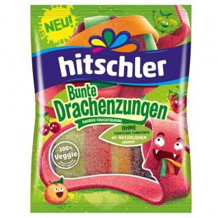 Hitschler Bunte Drachenzungen saurer Fruchtgummi veggie 125g
