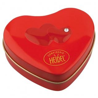 Heidel Schmuckherz von Herzen Metalldose mit Choco Pralinen 32g