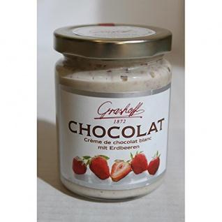 Grashoff Chocolat Blanc mit Erdbeeren aus belgischer weißer Schokolade 250ml