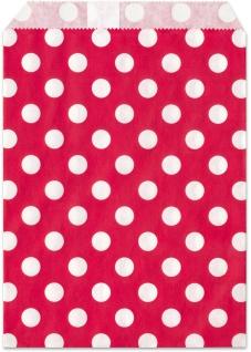 Geschenktuete rot Punkte 25 Stueck