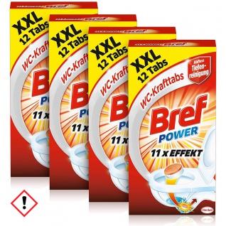 Bref Power WC Kraft Tabs 10 facher Effekt 4 x 12 Tabs 4er Pack