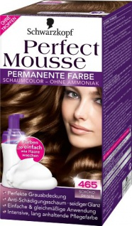 Schwarzkopf Perfect Mousse permanente Farbe Stufe 3, 465 Schokobraun