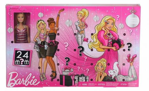 Barbie GFF61 Adventskalender 2019 mit Überraschungen für Kinder