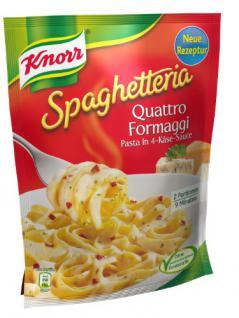 Knorr Spaghetteria Quattro Formaggi Pasta mit 4-Käse-Sauce, 5er Pack (5 x 500 ml)