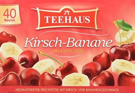 Teehaus Kirsch Banane Früchtetee mit Kirsch Bananen Aroma 6er Pack - Vorschau