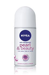 Nivea Deodorant Roll-On Pearl & Beauty für Frauen 50 ml, 3er Pack (3 x 50 ml)