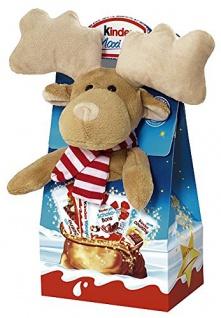 Ferrero Kinder Maxi-Mix Plueschtier 4fach: Elch, Eisbär, Esel, Pinguin