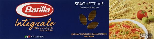 Barilla Pasta Nudeln Spaghetti Vollkorn Integrale 500g 10er Pack
