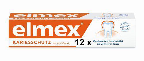 12 elmex Zahnpasta Zahncreme je 75 ml