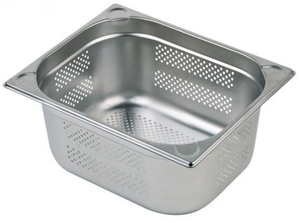 Assheuer und Pott Gastronomie Behälter preforiert aus Edelstahl