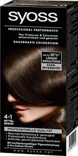 Syoss Professional Performance Coloration, 4-1 Mittelbraun, 5er Pack (5 x 1 Stück) - Vorschau