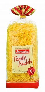 Jeremias Suppennudeln 2 mm, Classic Frischei-Family-Nudeln, 4er Pack (4 x 500 g Beutel)