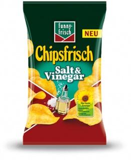 Funny Frisch Chipsfrisch Salt und Vinegar britischer Geschmack 175g