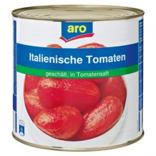 Aro geschälte Tomaten in Tomatensaft als Vorratsgröße 2650ml