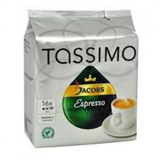Tassimo Jacobs Espresso Röstkaffee gemahlen in Kapseln 118g 4er Pack
