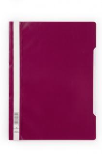 Sichthefter Standard A4 mit transparentem Vorderdeckel Purpur Rot