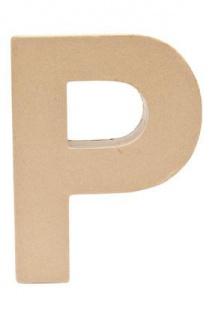 """Pappmache Buchstabe """" P"""" stehend zum basteln kreativ Rico Design Idee"""