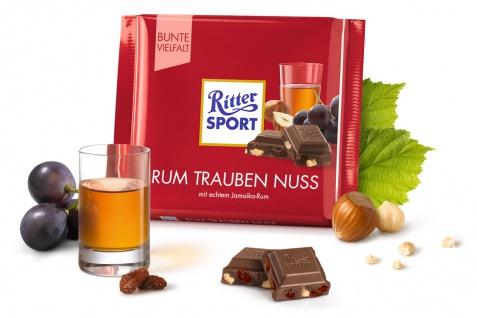 Ritter Sport Rum Trauben Nuß mit echtem leckerem Jamaika Rum 100g