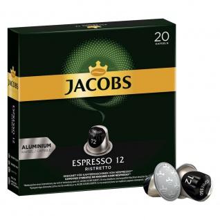 Jacobs Kapseln Espresso 12 Kapse 20 Portionen in einer Packungln 104g