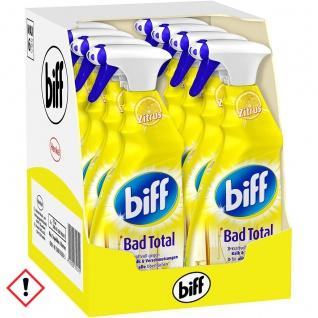 Biff Bad Reiniger Total gegen Kalk und Schmutz 750ml 8er Pack