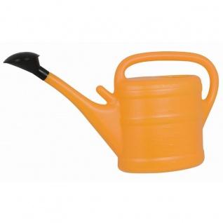 Gießkanne 10 l orange mit Aufsteckbrausekopf hochwertiger Kunststoff