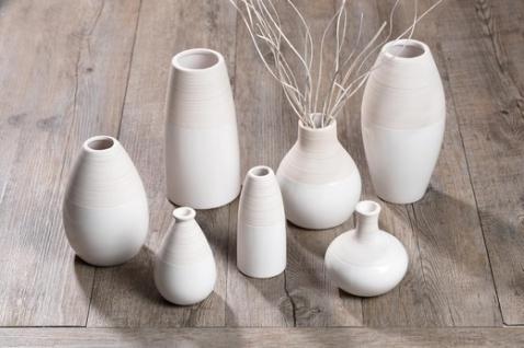 Ritzenhoff und Breker Vase aus der Serie Anna Keramik weiß 10cm - Vorschau 2