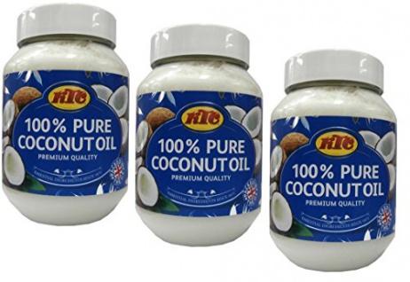 Kokosöl 100% Pur Kokosöl zum Braten KTC Pure Coconut Oil 500ml 3er Pack