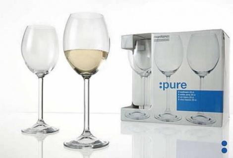 Weißweinglas Rotweinglas Weinkelch Montana Serie Pure 130ml 6er Set