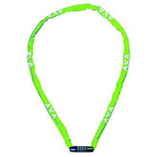 AXA Fahrradkettenschloss Rigid 120 mit Polyesterhülle Farbe grün