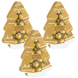 Ferrero Rocher Tanne Pralinen aus Milchschokolade 150g 3er Pack
